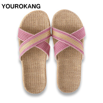 Summer Couple Home Slippers Women Slides Fashion Indoor Floor Flax Slippers Unisex Female Flip Flops Flax Slippers Dropshipping 2016 home slippers women indoor floor flax slippers men breathable linen slipper home bedroom slippers women shoes awm116