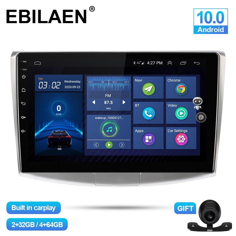 EBILAEN Автомобильный мультимедийный плеер для VW Volkswagen Passat B7 B6 CC 2Din Android 10,0 Авторадио GPS навигация DVR камера стерео