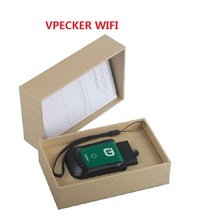 V-pecker Wifi OBD2 Auto Car Diagnostic Tool Adapter All Systems Automotive Scanner for all cars Update free PK XTUNER E3 cheap KESS KTAG Engine Analyzer 8inch Vp ecker OBD2 wifi model 0 4kg plastic and metal Vpecker latest V pecker OBD2 wifi 4inch