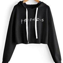 Friends crop top new Hoodies Sweatshirts 2019 Women Casual K