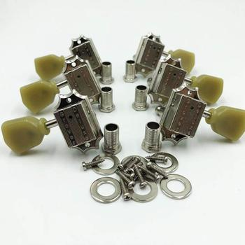 Grover 135 Nickel Tuners 3R 3L Vintage Machine Heads Tuning Pegs Nickel Gear ratio 14:1 For Standard Guitar image