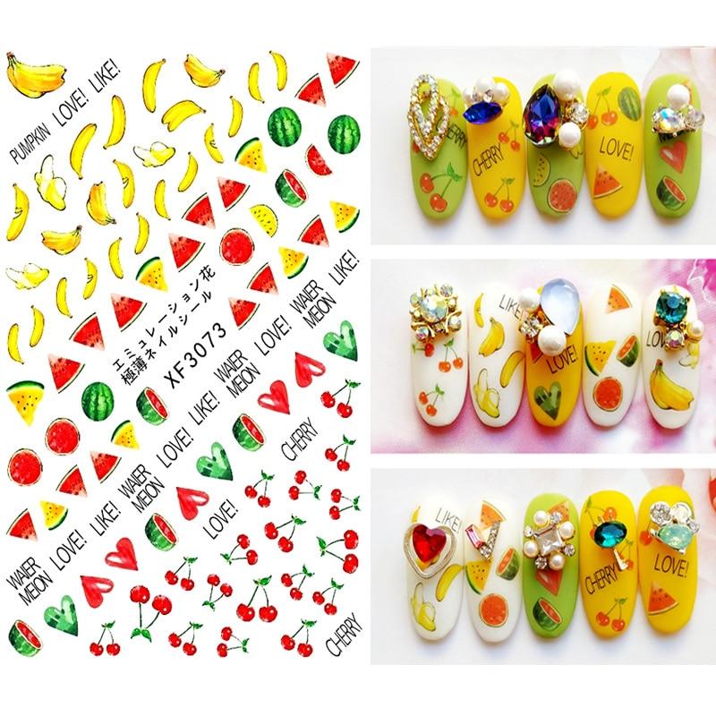 Красочные стикеры 3D на ногти Nail Art Переводные снежинки дизайн золото наклейка Дизайн ногтей Стикеры инструменты XF6231|Стикеры и наклейки|   | АлиЭкспресс