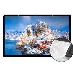 AAO 16:9 проектор экран 180 200 250 300 дюймов HD Матовый белый анти-crease проекционный экран настенный домашний кинотеатр большой холст
