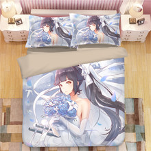 3D Azur lane bedding sets beautiful duvet cover sets single double queen king anime bedclothes 3pcs luxury kids quilt cover sets(China)
