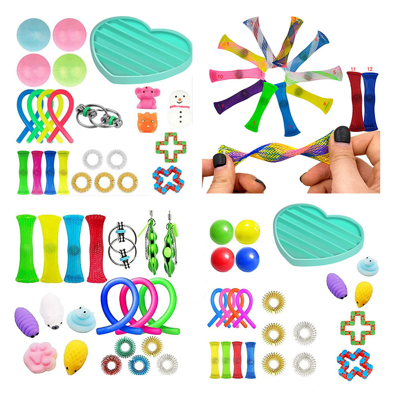 Fidget-Toys Strings Anti-Stress-Toy-Set Mesh Marble Relief-Gift Sensory-Stress Adults