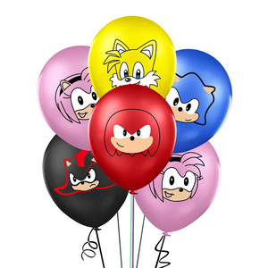 Image 2 - 12pcs סוניק בלוני קיפוד לטקס בלון מסיבת יום הולדת קישוטי ציוד צעצועי לילדים Globos