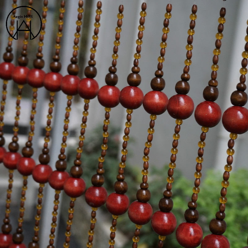 22 String 1M Chinese Stijl massief Rood Hout Gordijnen Slaapkamer Gordijnen Home Decor Decoratie - 2
