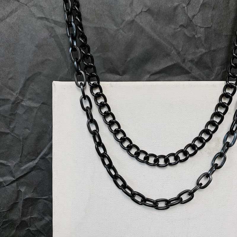 펑크 메탈 바지 밸리 체인 블랙 진술 디자인 다크 수갑 2 층 허리 체인 남성과 여성 Eboy Party Jewelry