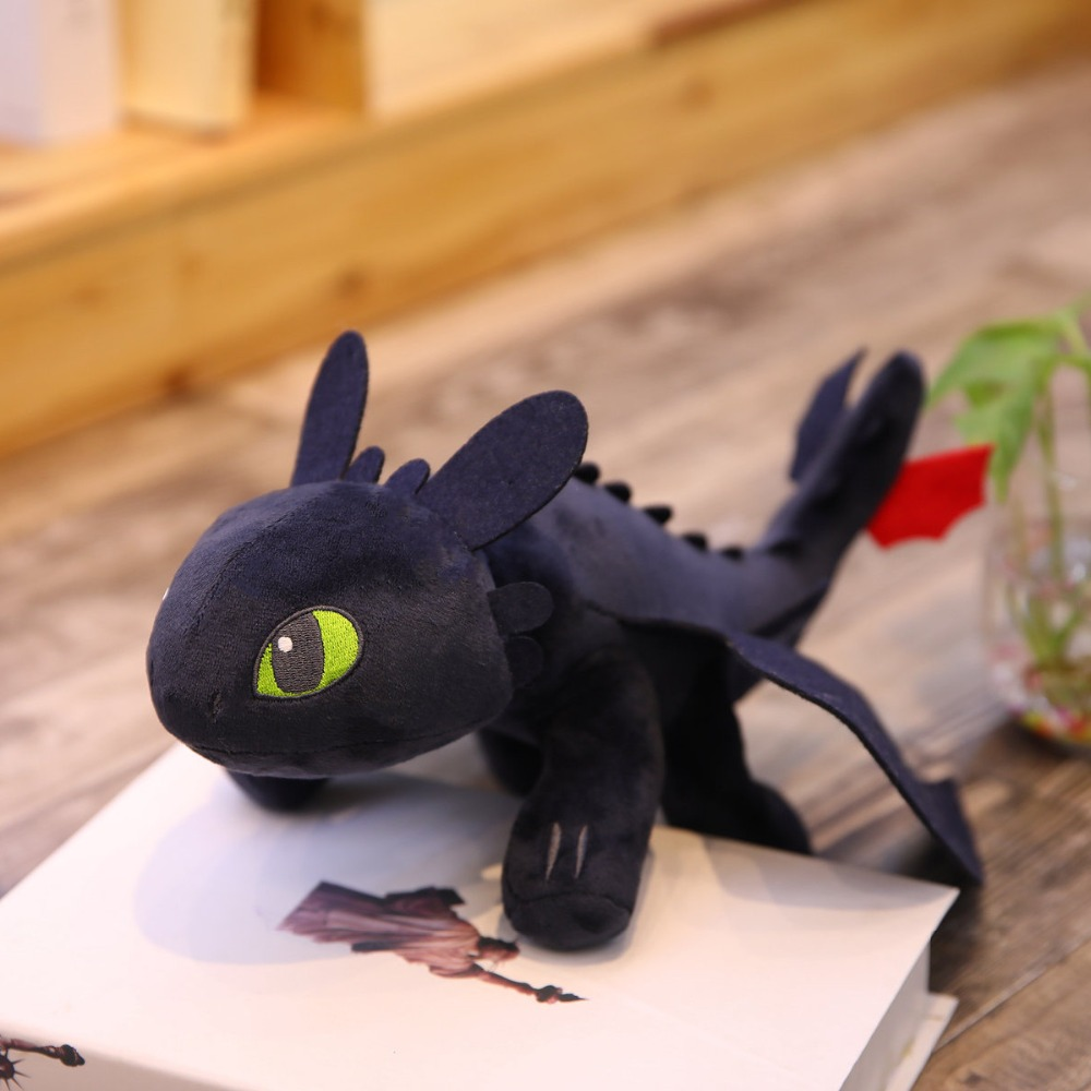 35cm  How To Train Your Dragon Toothless Dragon Plush Night Fury Stuffed Soft Dolls Animal Toy For Kids Cute Birthday Gift