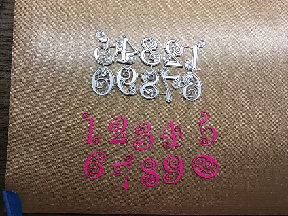 Circle Lace Numbers Metal Dies Scrapbooking Metal Cutting Dies  Craft Stamps Die Cut Embossing Card Make Stencil Frame