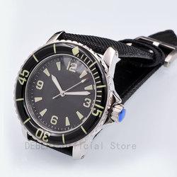 Часы мужские 41MM mewa ruch sterylna czarna tarcza Luminous relogio w prova de agua automatyczne mechaniczne zegarki na rękę mężczyzna