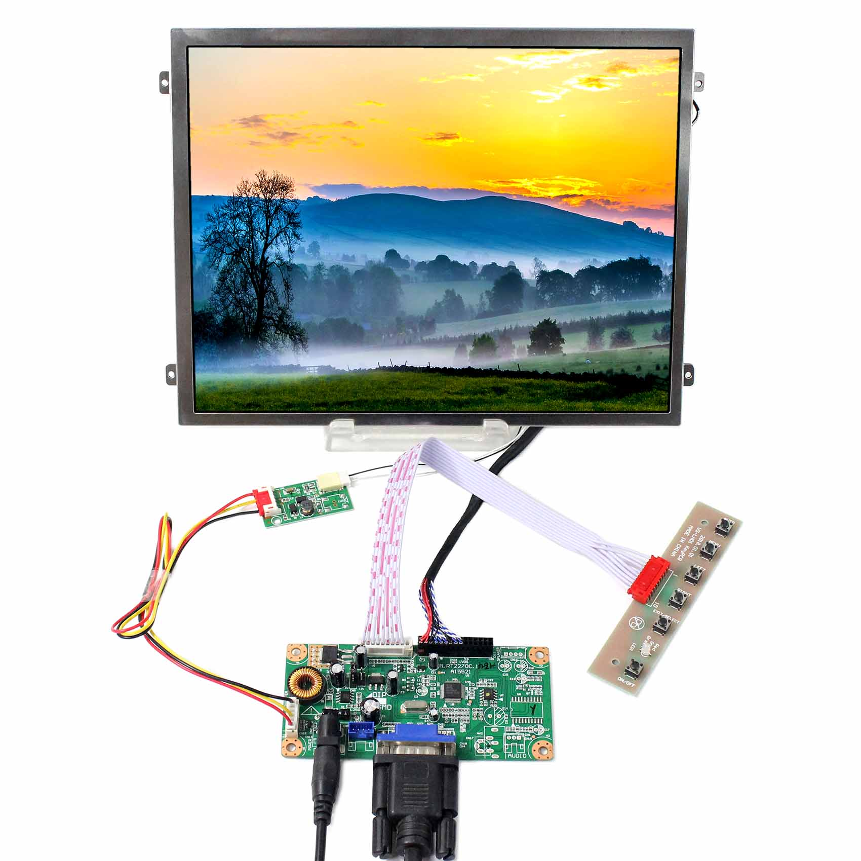 10.4inch VS140T-003A 1024x768 IPS LCD Screen With VGA LCD Controller Board
