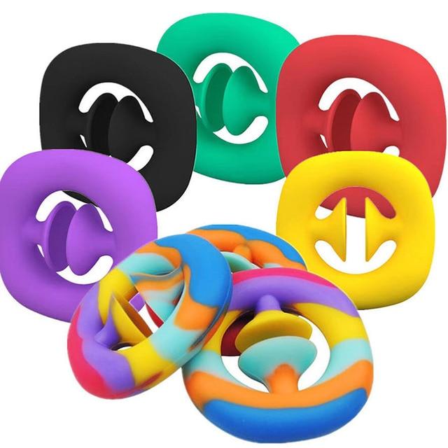 Anti-Stress poignée de doigt soulagement du Stress jouets Fidget jouets adulte enfant Simple fossette jouets Anti-Stress décompression Dropshipping 2