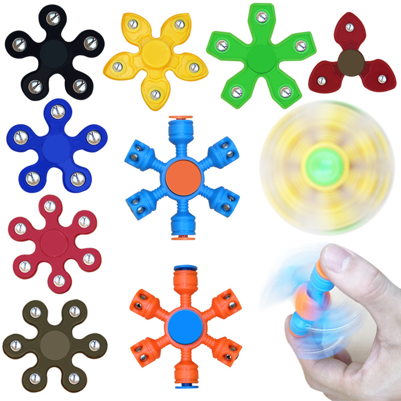 New Stainless Steel Balls Fidget Spinner EDC Spinner For Autism ADHD Anti Stress Tri-Spinner High Quality Adult Kids Funny Toys