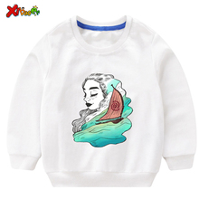 Baby Girl Sweatshirt Moana 2019 Autumn Children Girls Sweatshirts  Toddler Cotton Costume Clothing Kids