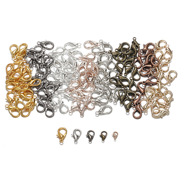 100pcs Lobster Clasps for Bracelets Necklaces 10-18mm Hooks Chain Closure Findings Accessories for Jewelry Making Wholesale