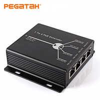 4 Port IEEE802.3af PoE Extender 720P1080P Netzwerk kamera Verlängern 120m übertragung abstand mit 10/100M LAN ports