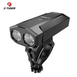 Image 5 - X TIGER Bicycle Light Rainproof  Bike Flashlight USB Rechargeable LED 1800 Lumens MTB Road Bike Front Lamp Bike Accessories