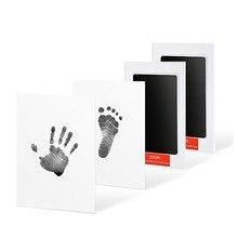 2 pacotes de cuidados com o bebê não-tóxico handprint impressão kit lembranças do bebê fundição recém-nascido pegada tinta almofada infantil argila brinquedo presentes