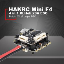 HAKRC Mini F4 Flytower Flight Controller Integrated OSD 4 in 1 BLHeli 20A ESC Built-in 5V 2A output BEC For FPV RC Drone darwinfpv betaflight f4 v3s flight control built in image filtering osd 35a 4 in 1 esc flytower for fpv rc drone