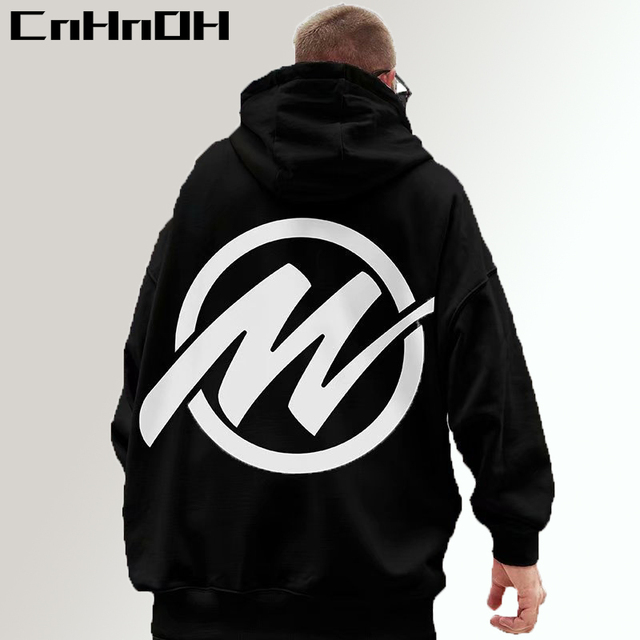 CnHnOH Oversize Autumn And Winter Fashion Loose Hiphop Streetwear Oversize Hooded Velvet Padded M Hoodies MenGF-Q8810 1