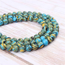 Wholesale Blue Malachite  Natural Stone Beads Round Beads Loose Beads For Making Diy Bracelet Necklace 4/6/8/10/12MM
