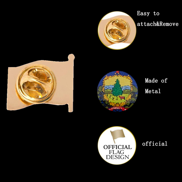 USA All 50 States Metal Enamel Pin and Brooches States Flag Lapel Pin Waving Brooch Badge Patriot Collectible