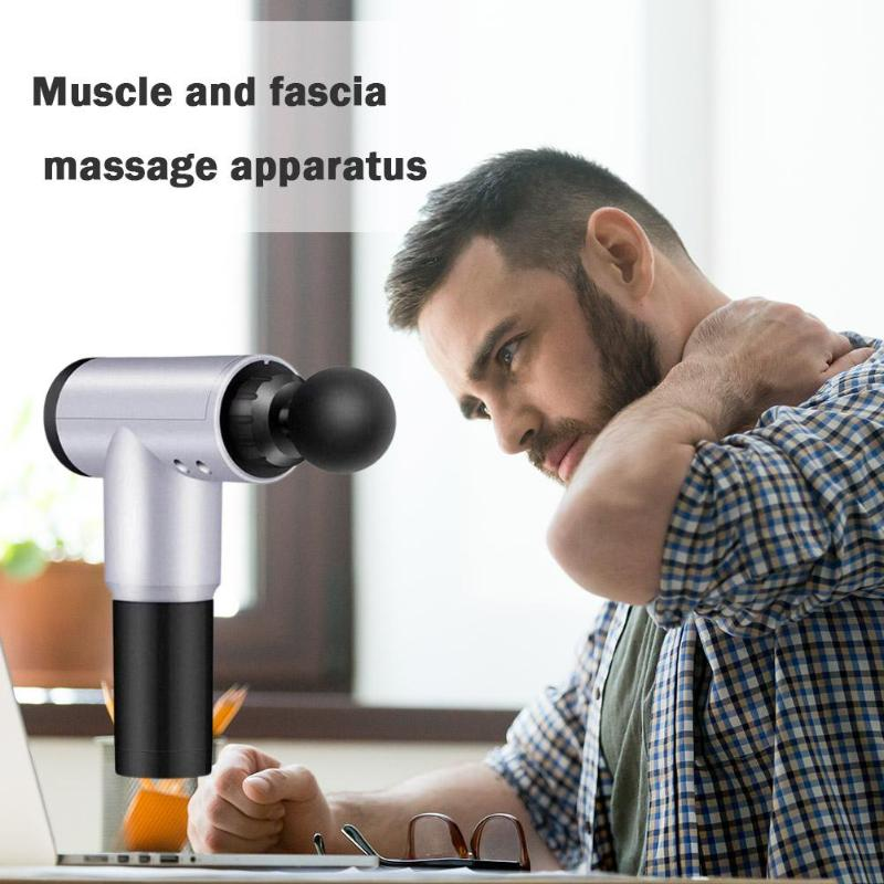 Купить с кэшбэком Muscle Stimulator Massage Gun Portable Bodybuilding Relaxing Artifact  Therapy Gun Vibrating Deep Therapy Relaxation