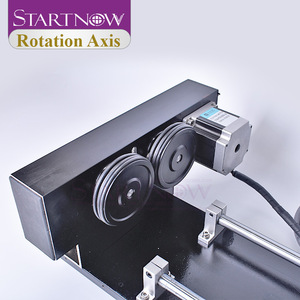 Image 3 - Startnow eixo rotaion gravura acessório com rodas rolos 2 & 3 fase motores de passo para co2 máquina de corte de gravura a laser