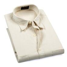 Большие и высокие размеры, мужские летние деловые Повседневные Классические хлопковые рубашки, мужские рубашки в Оксфордском стиле с коротким рукавом, легкие тканые рубашки для мужчин