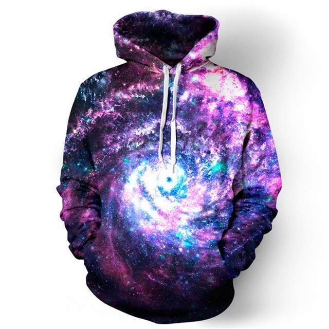 3D Starry Sky Printed High Quality Hoodie 4
