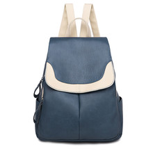 Preppy Style Women Backpacks Quality PU Leather Travel Female Shoulder Back Bag for Elegant Ladies Shopping Bag Girl School Bags купить дешево онлайн