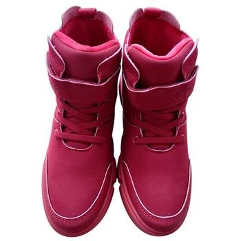 Zapatos de invierno para niñas, botas altas sin efectivo, zapatos deportivos estables