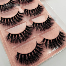 5 Pairs 3D Eyelashes Hand Made Natural Long Faux Mink Lashes High Quality False Lash book Extensions Maquiagem Makeup cilios