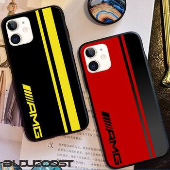Luxury Mercedes Benz AMG Car Phone Case For iphone 11 12 Mini Pro Max X XS MAX 6 6s 7 8 Plus 5 5S 5SE XR SE2020 image