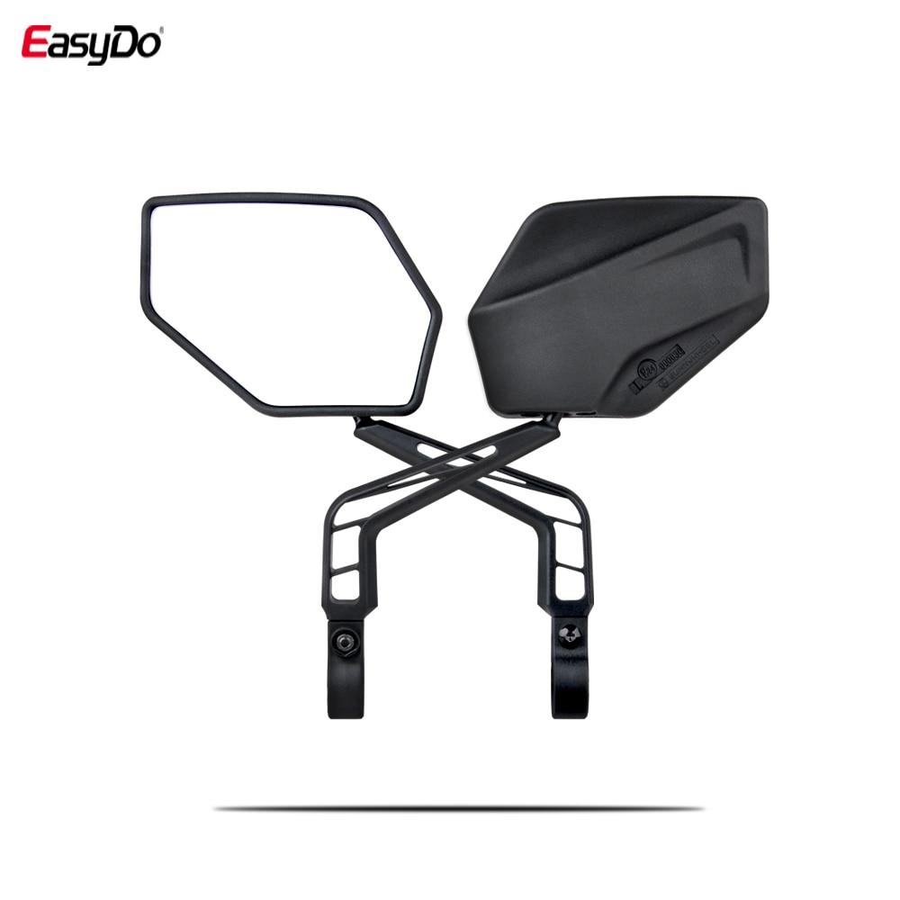 EasyDo 2 шт. руль для велосипеда, широкий угол, зеркало заднего вида, регулируемый MTB руль, боковая безопасность, гибкие зеркала заднего вида