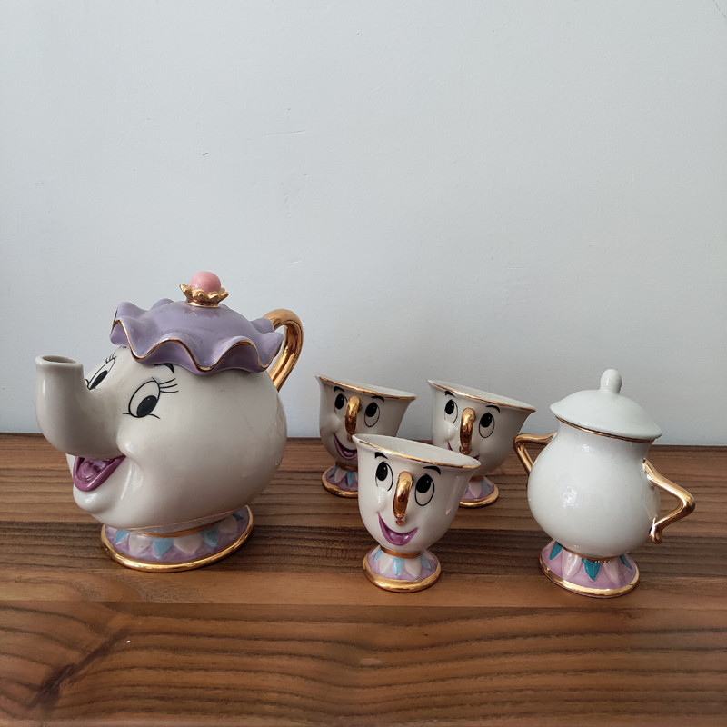 Cartoon Beauty And The Beast Teapot Mug Mrs Potts Chip Tea Pot Cup One Set Lovely Christmas Gift Fast Post