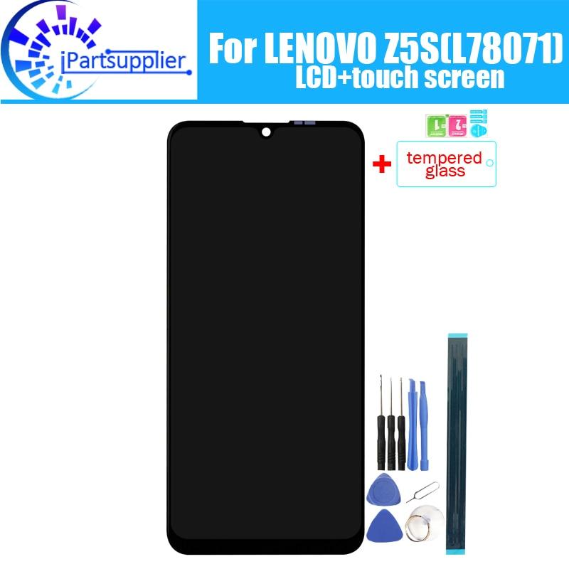 Для LENOVO Z5S ЖК-дисплей + сенсорный экран 100% оригинальный протестированный ЖК-дигитайзер стеклянная панель Замена для LENOVO Z5S(L78071)