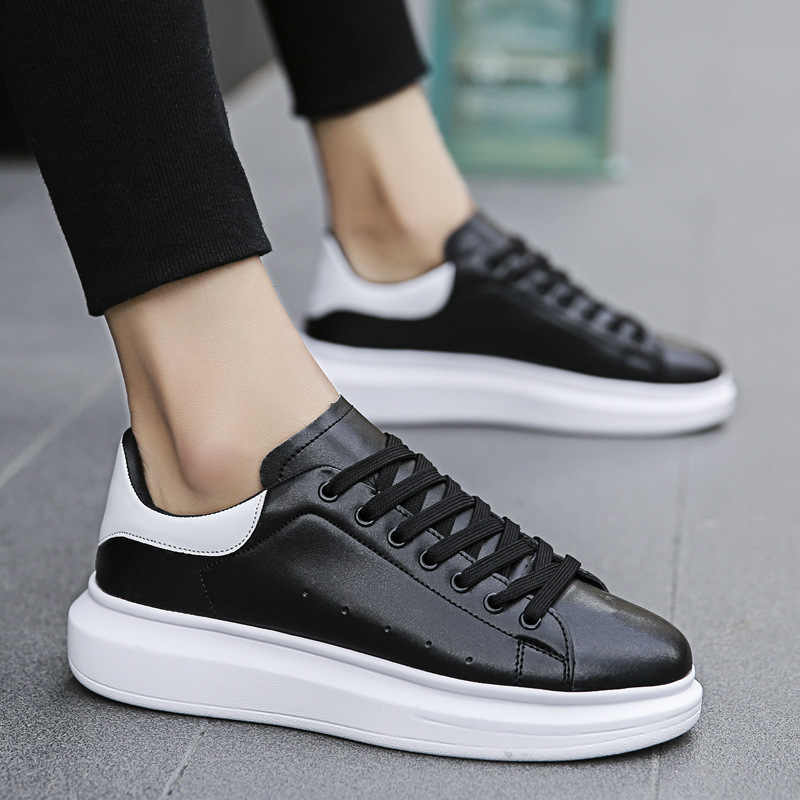 2019 Men Casual Shoes New Designer Sneakers Split Leather Men Zapatillas Fashion Chaussure Homme Comfortable Footwear C1-10A