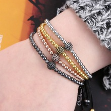 Retro mens bracelet inlaid zircon men and women couple bracelets fashion simple to send gifts bangles