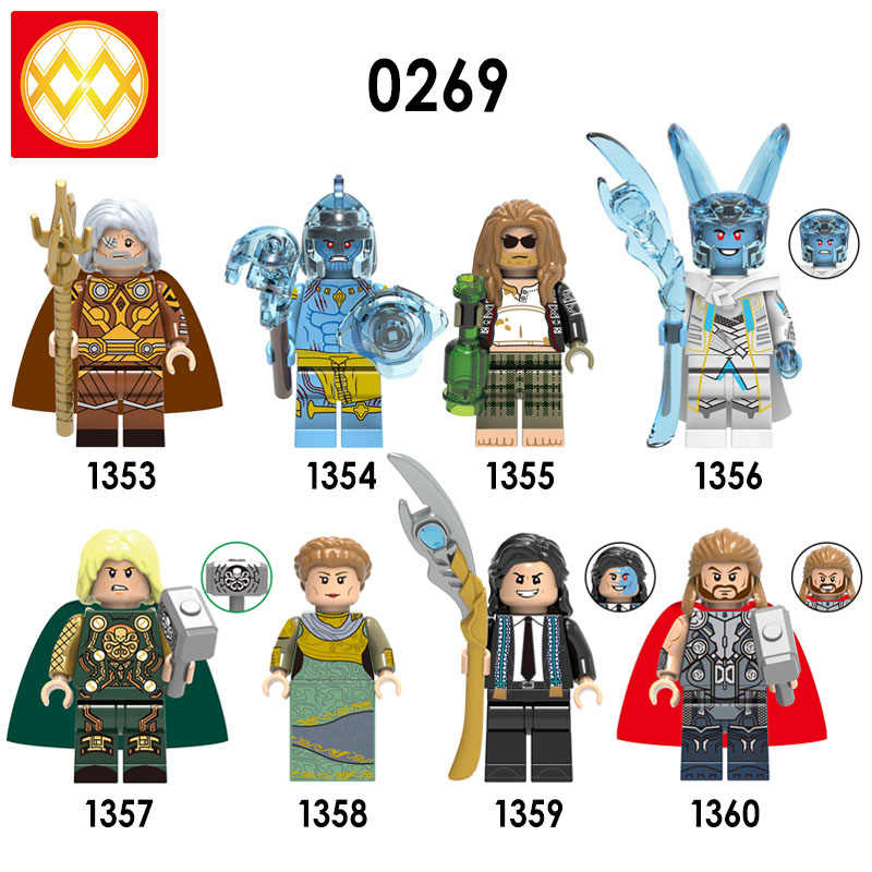 X0269 Thor juguetes King Laufey Loki Frigga Odin King Of Asgard building blocks Bricks Fat Thor Frost Loki children gifts Toys