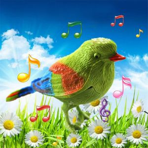Bonito pájaro cantador interactivo juguetes electrónicos aves de imitación Control de voz juguetes de música educativos para bebé niños regalo divertido juguete