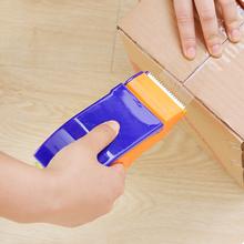 Dispensador de cinta de sellado de plástico, paquete de embalaje, cortador de cinta de rodillo de 48mm de ancho, soporte de cinta de sellado, máquina de embalaje Manual