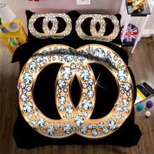 Goang 1/2/3 PCS Popular 3D Luxury Bed Linen Duvet Cover Bed Sheet Sets Luxury Bedding Set Queen King AU/US/EU Size(China)