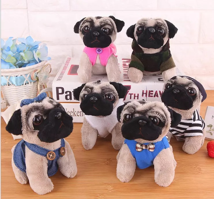 13cm Pendant Sanddog Pug Plush Toy Cute Animal Soft Stuffed Doll Dog Cosplay Dinosaur Elephant Kids Toys Birthday Christmas Gift
