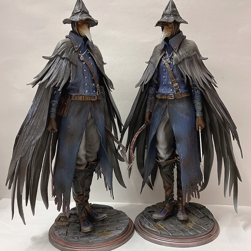 Bloodborne Hunter Figure Bloodborne Eileen The Crow Action Figures Resin Model Kit Model Toy 30cm 12inch