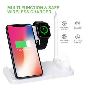 Image 5 - DCAE 4 in 1 Wireless Charging Dock Station Qi Charger Stand for Apple Watch iWatch 5 4 3 2 1 AirPods iPhone 11 XS XR X 8 Samsung