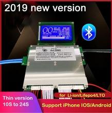 חכם Bluetooth 300A 200A 100A 70A סוללת ליתיום הגנת לוח BMS איזון Lipo ליתיום lifepo4 LTO 10S 13S 14S 16S 20S 24S