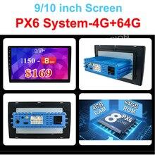 """4G 64G 안 드 로이드 10.0 유니버설 1 din 자동 멀티미디어 플레이어 자동차 라디오 2din 스테레오 10 """"자동차 플레이어 자동 라디오 HDMI PX6 시스템"""