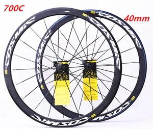 Дорожный велосипед Сверхлегкий 700c 40 мм V Тормозной диск Тормозные колеса из алюминиевого сплава колеса велосипеда